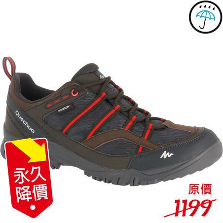 Arpenaz 100 Men's Waterproof hiking boots - Coklat/Merah