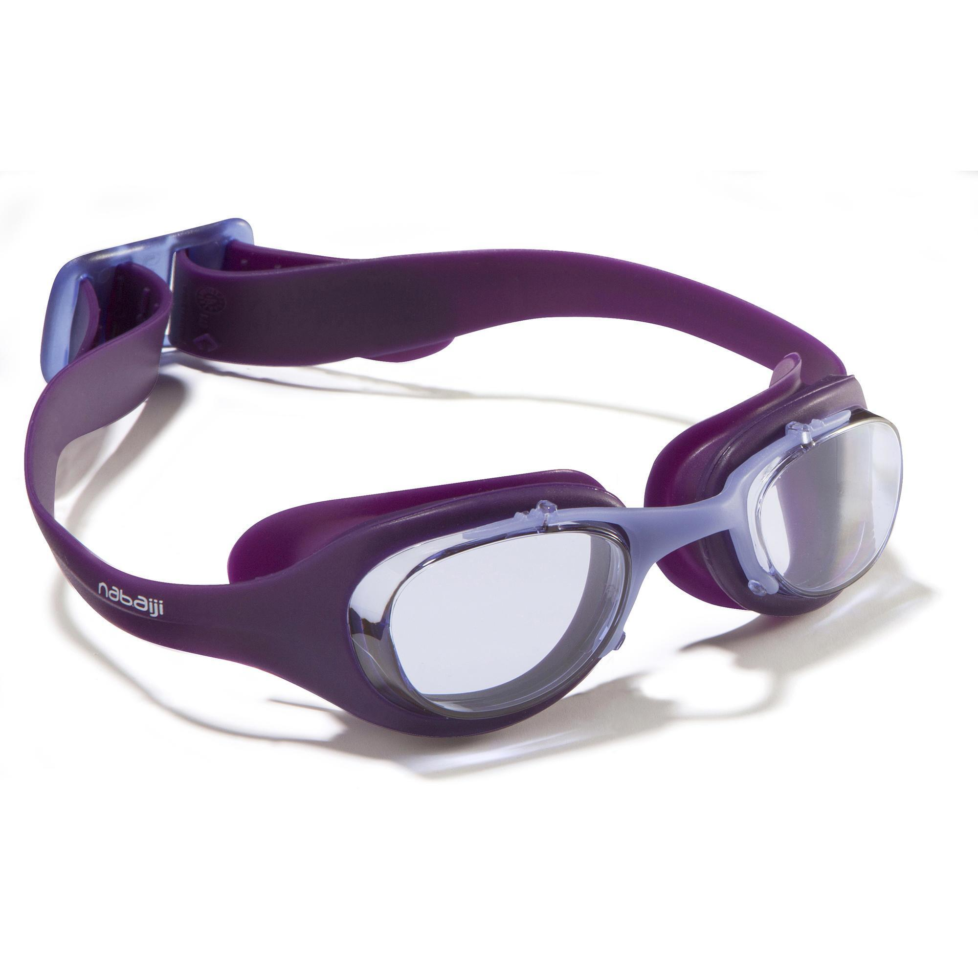 Lunettes de natation xbase taille l violet nabaiji for Protege oreille piscine decathlon