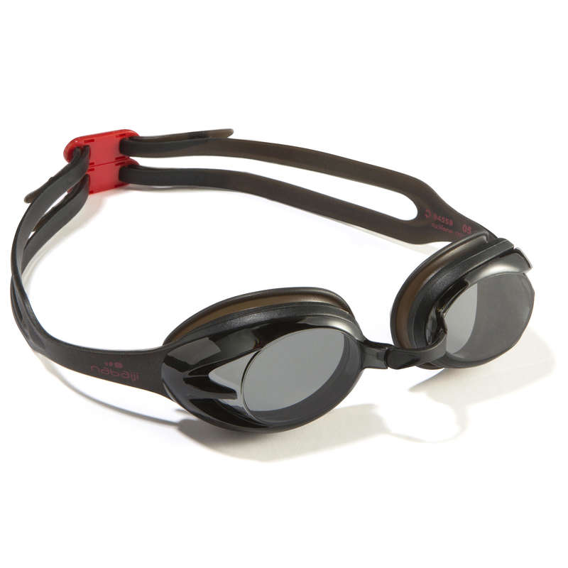 SWIMMING GOGGLES OR MASKS - ACTION Swimming Goggles Adult Black Red NABAIJI