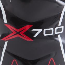 ESPINILLERAS VAPOR X700 negro rojo