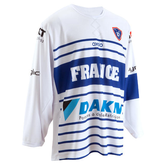 Shirt Frankrijk ijshockey wit - 980367