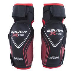 Elleboogbeschermers voor hockey Vapor X700 zwart/rood