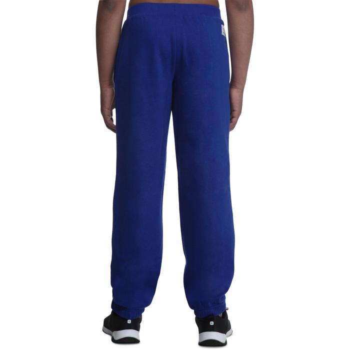 Pantalón recto de felpa fitness niño azul