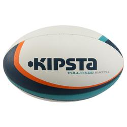 R500 Size 5 Rugby Ball - Turquoise/Orange