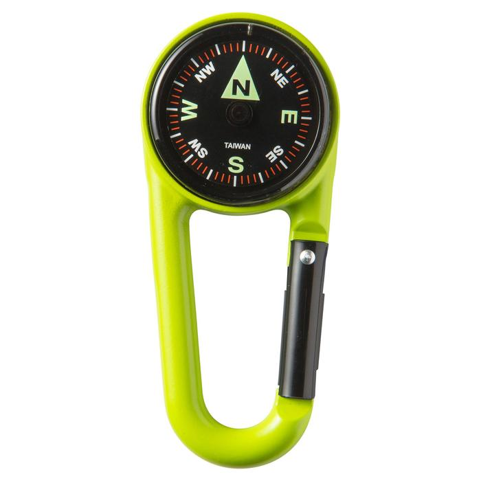 COMPACT 50 SNAP-HOOK ORIENTEERING COMPASS - MULTICOLOUR