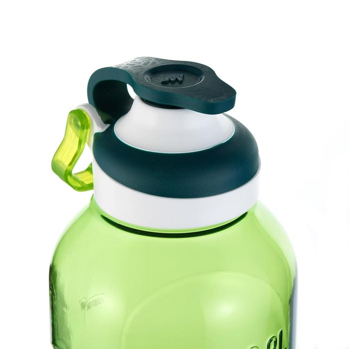 Hiking flask 500, fast opening top, 0.8 litres, green plastic (Tritan)