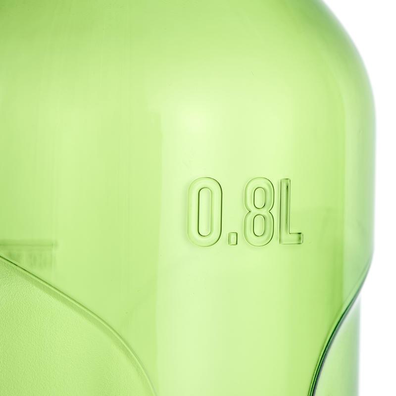 Cantimplora de senderismo 500 tapa apertura rápida 0,8 L plástico Tritán verde