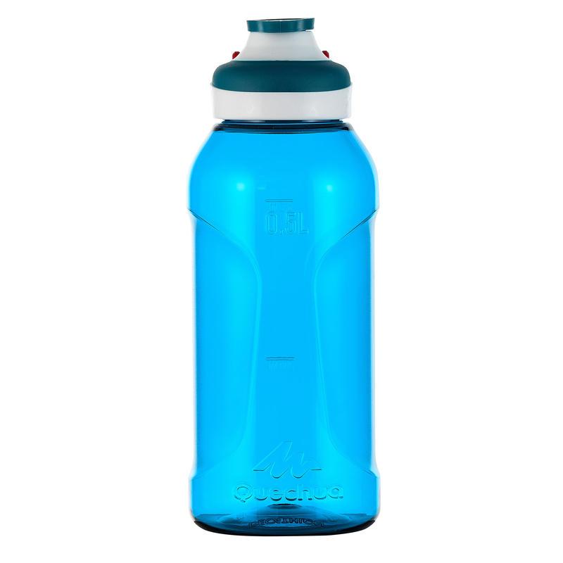 Quick-Open, Plastic (Tritan) 500 Hiking Flask - 0.5 Litre, Blue