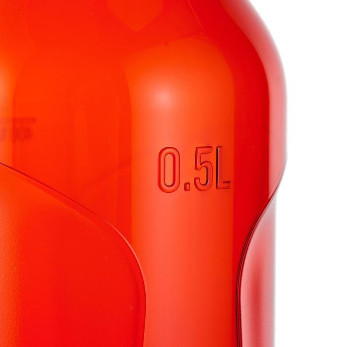 Drinkfles voor trekking 500 sneldop 0,5 liter plastic (Tritan) rood