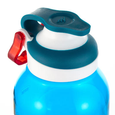 בקבוקון 500 מפלסטיק (טריטן) למטיילים ברגל - פתיחה מהירה - 0.5 ליטר - כחול