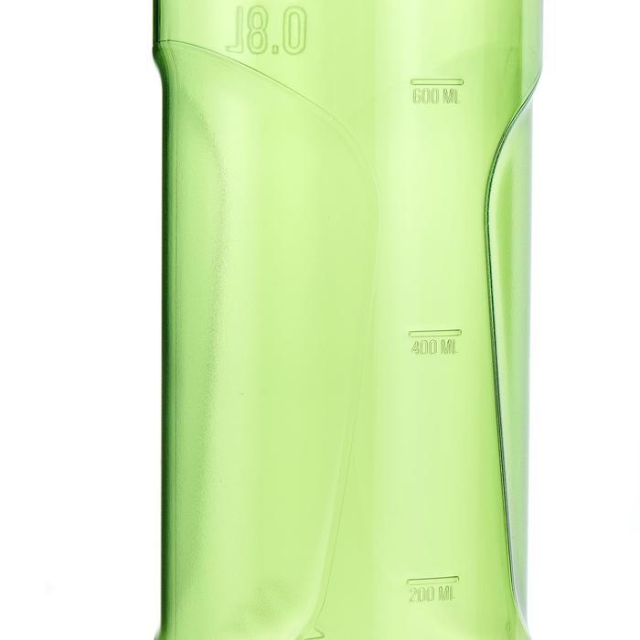Cantimplora senderismo 500 tapón apertura rápida 0,8 L plástico (Tritan) verde