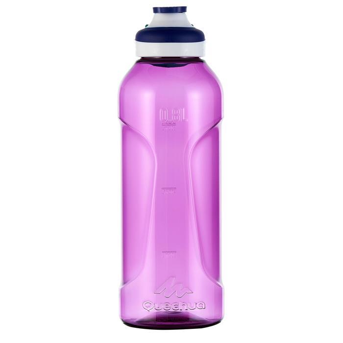 Cantimplora Montaña Quechua 500Tapón Apertura Rápida 0,8L Plástico(Tritan)Violet