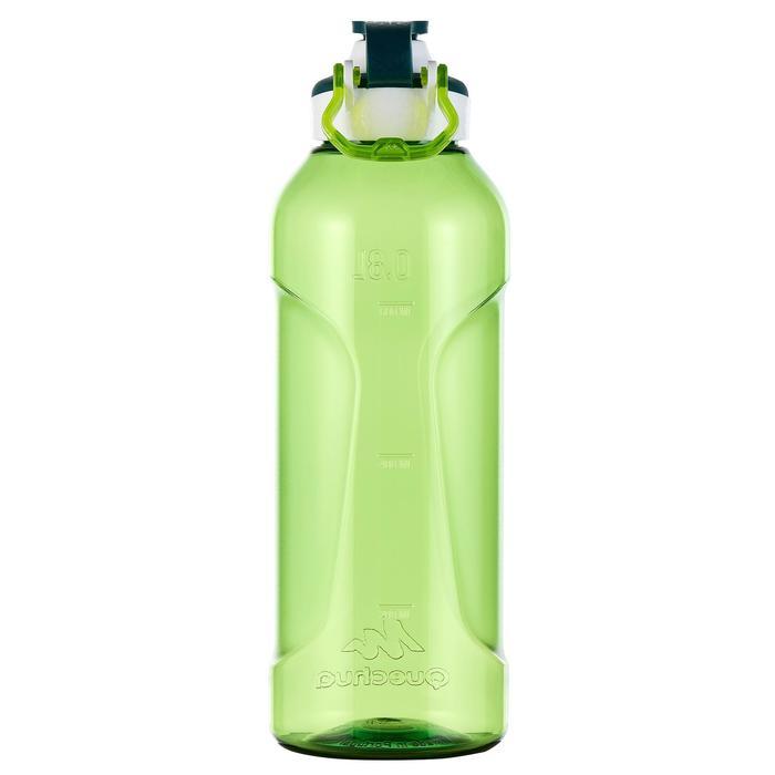 Gourde randonnée 500 bouchon ouverture rapide 0,8 litre plastique (Tritan) - 980711