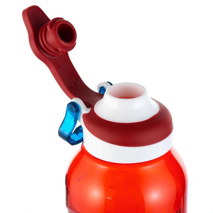 Cantimplora senderismo 500 tapón apertura rápida 0,5 L plástico (Tritan) rojo