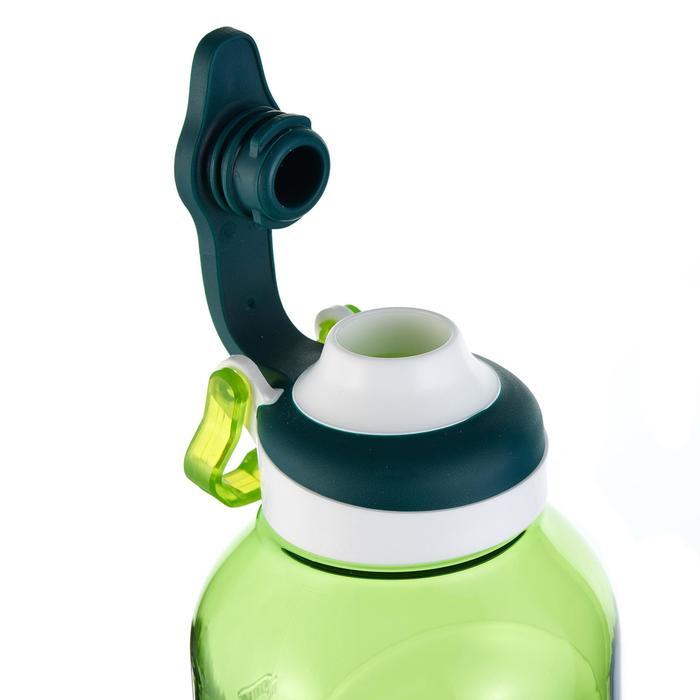 Cantimplora de senderismo 500 tapón apertura rápida 0,8 L plástico Tritán verde