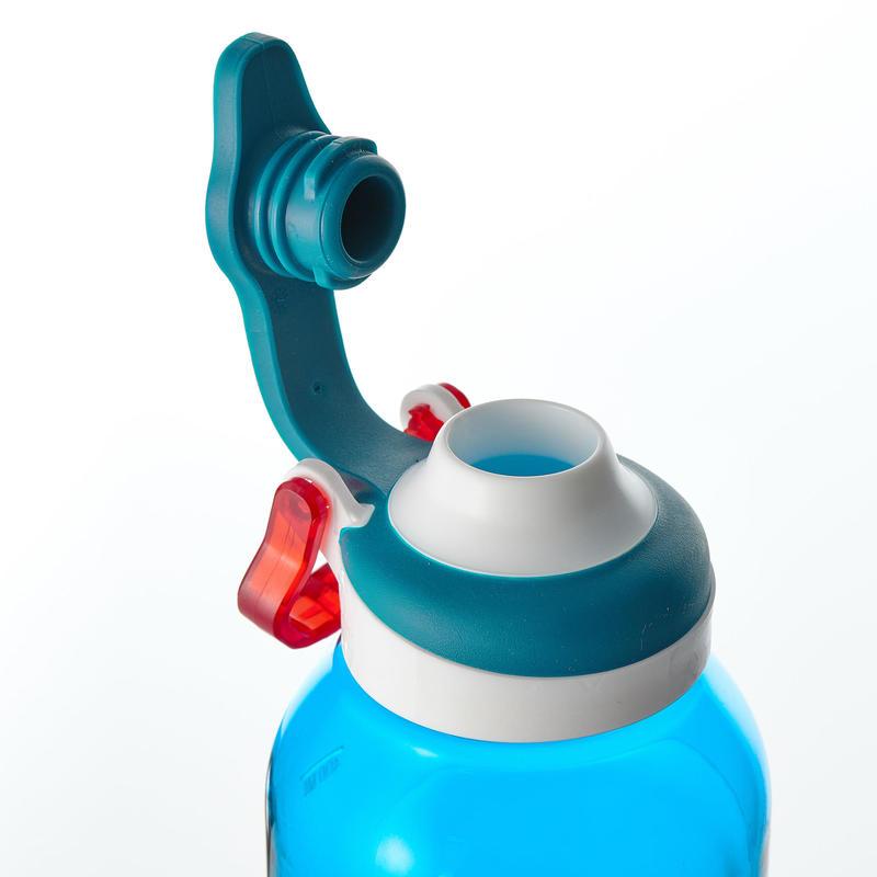 Gourde randonnée 500 bouchon ouverture rapide 0,5 litre plastique (Tritan) bleu