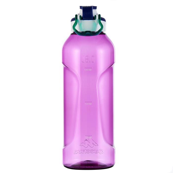 Gourde randonnée 500 bouchon ouverture rapide 0,8 litre plastique (Tritan) - 980730