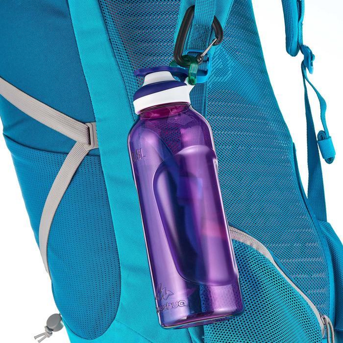 Cantimplora senderismo 500 tapón apertura rápida 0,8 L plástico Tritan violeta