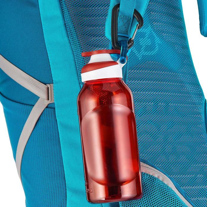 Drinkfles 500 voor wandelen sportdop 0,5 liter plastic (Tritan) rood
