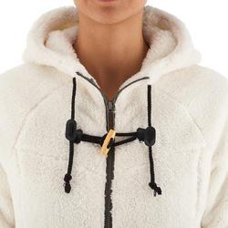 Veste polaire de randonnée d'hiver femme SH100 ultra-warm blanc