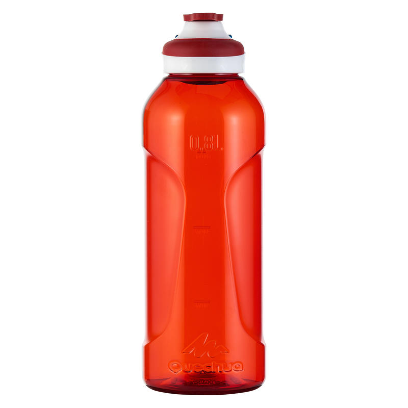 500 Tritan 0.8L Hiking Water Bottle with Quick-Opening Top - Red