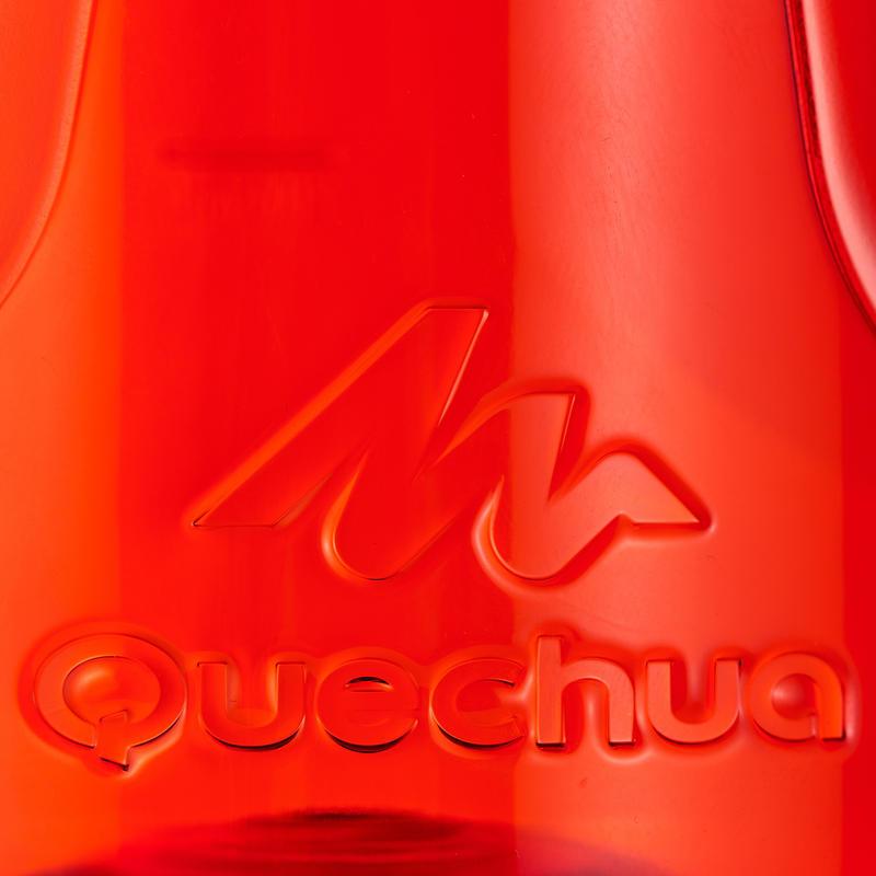 Botella senderismo 500 tapón apertura rápida 0,8 L plástico (Tritan) roja