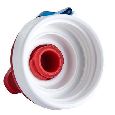 زجاجة 500 للتخييم بغطاء يسهل فتحه 0.8 لتر مصنوعة من البلاستيك - لون أحمر