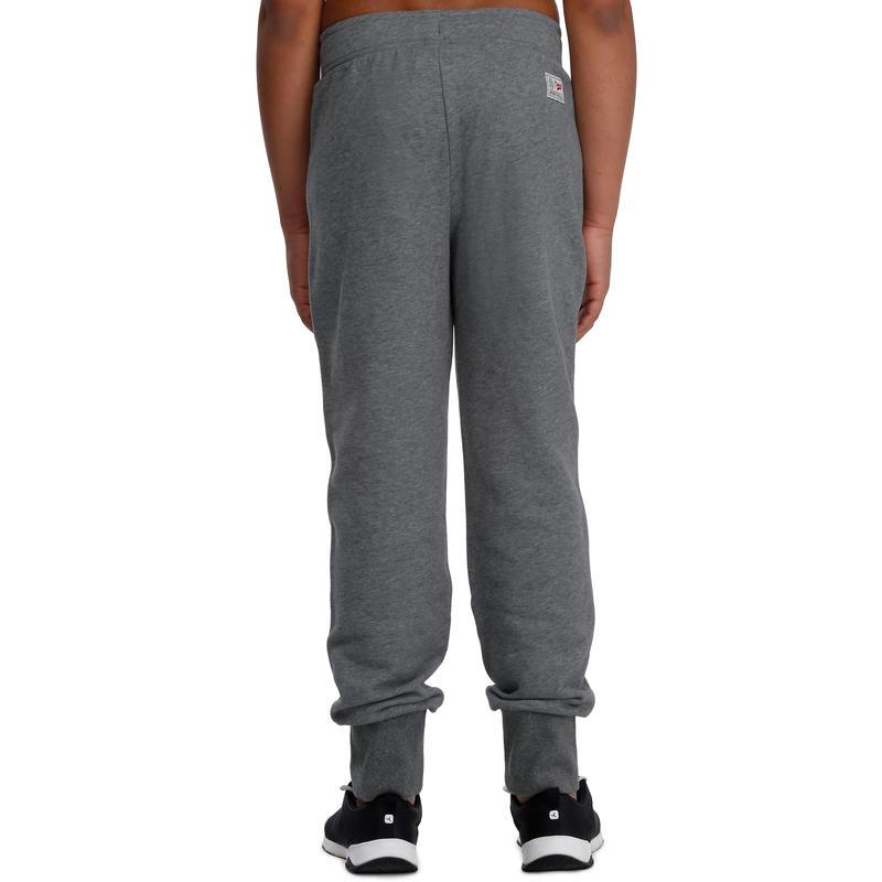 Pantalón 520 cálido slim gimnasia niño bolsillos gris