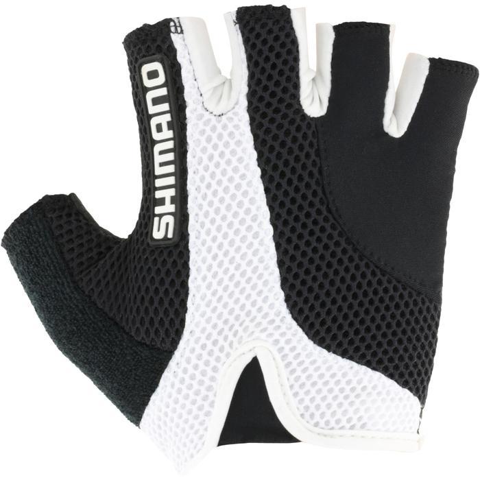 Wielrenhandschoenen Airway zwart/wit