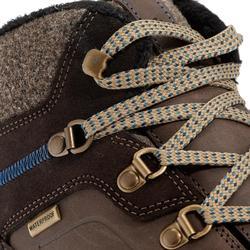 Chaussures de randonnée neige homme SH500 x-warm mid marrons.