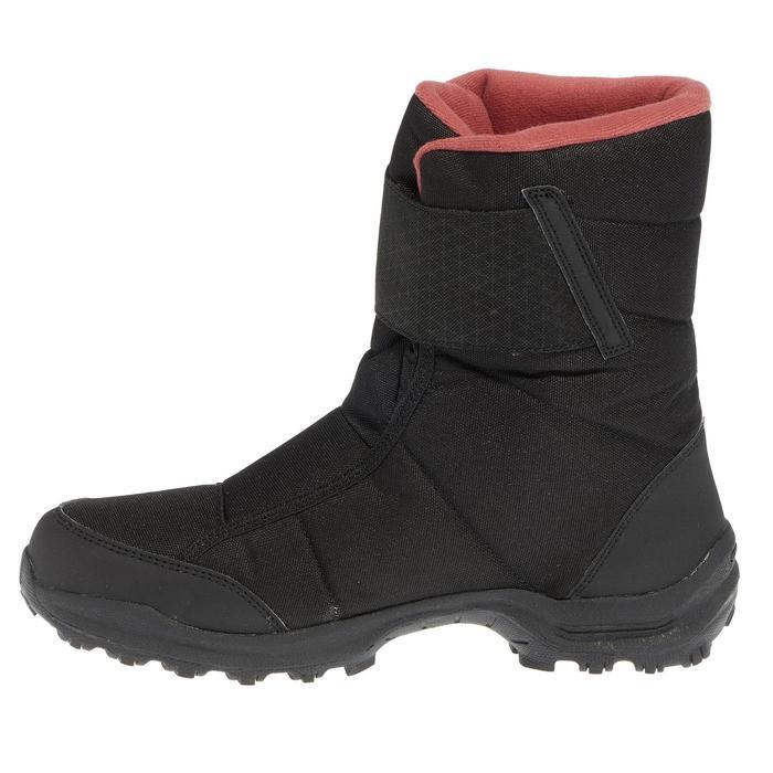 Botas de senderismo nieve mujer SH100 x-warm negro