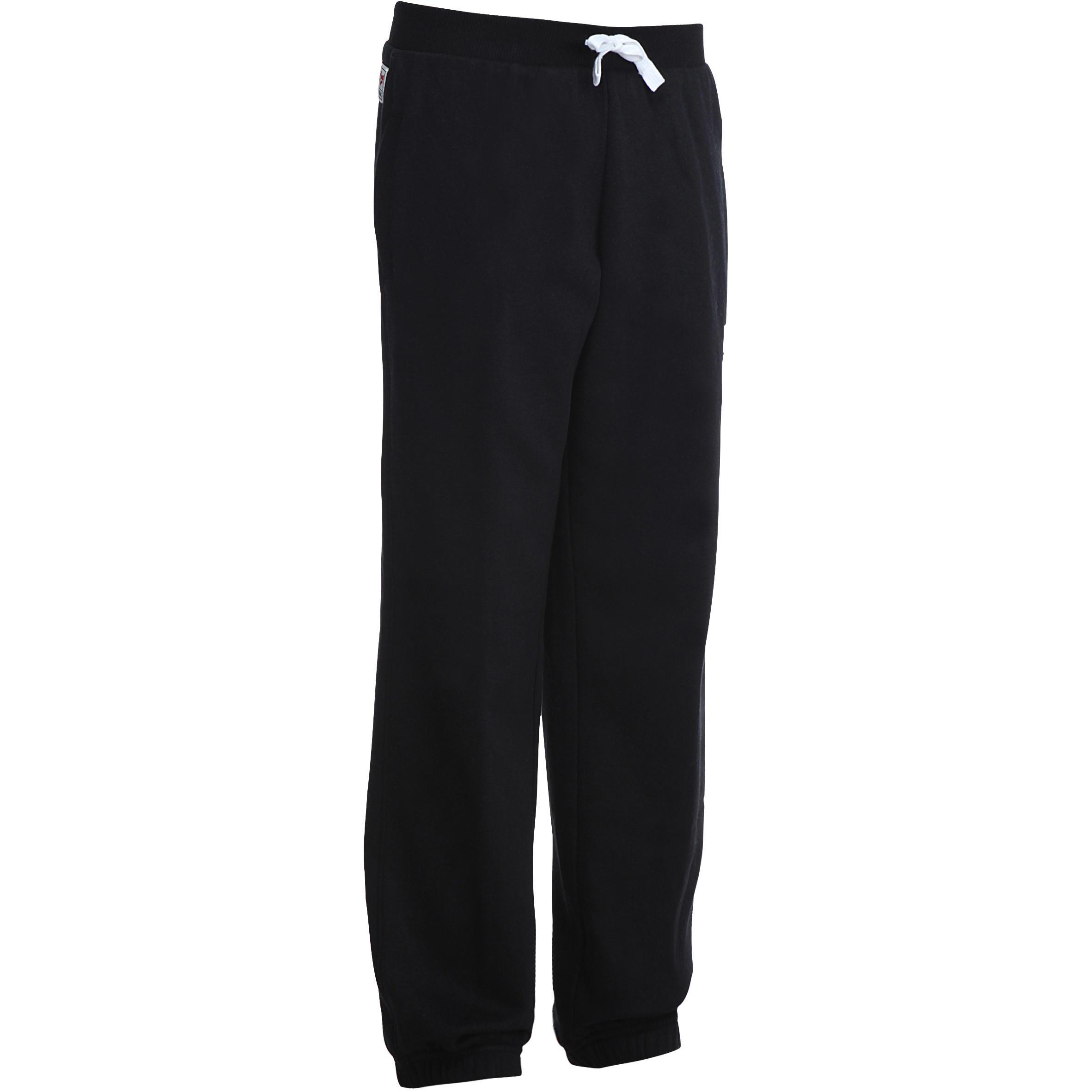 Pantalón de felpa gimnasia niño negro