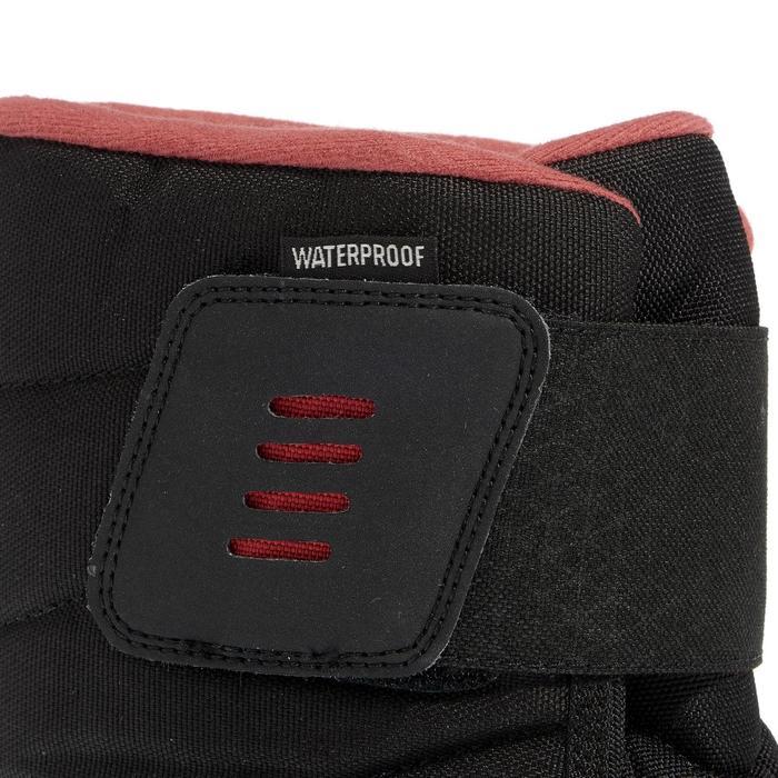Dames wandellaarzen voor de sneeuw SH100 X-warm zwart