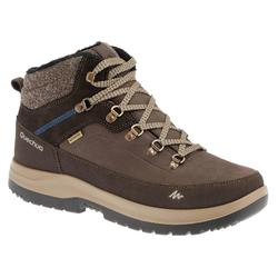 SH500 x-warm Men's blue mid hiking snow boots.