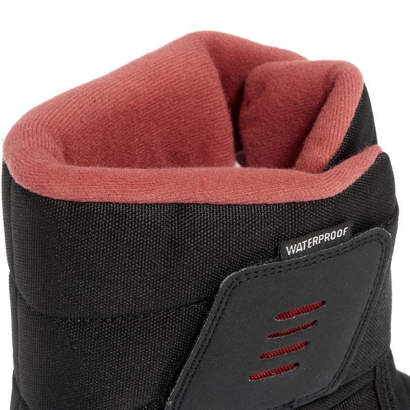 Bottes de randonnée neige femme SH100 x-warm noir-rose