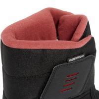 Women's Winter Hiking Boots SH100 X-Warm - Black-Pink