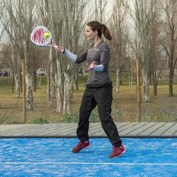 Lange broek Essential dames zwart 100 tennis/badminton/tafeltennis/padel/squash