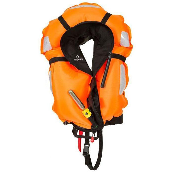 Gilet de sauvetage gonflable bateau adulte LJ150N AIR avec harnais - 982323