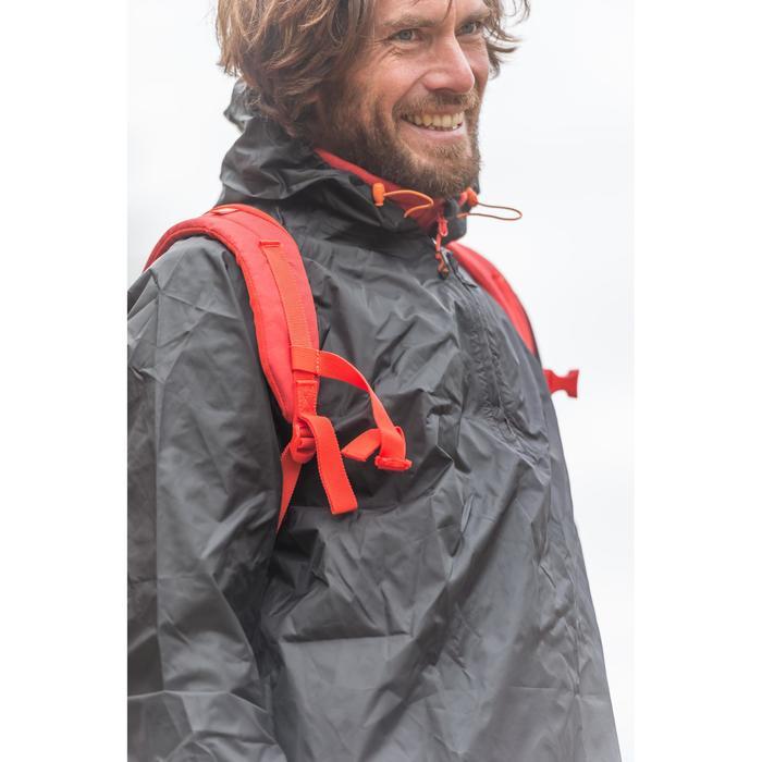 Regenjacke Naturwandern NH100 Raincut Herren schwarz