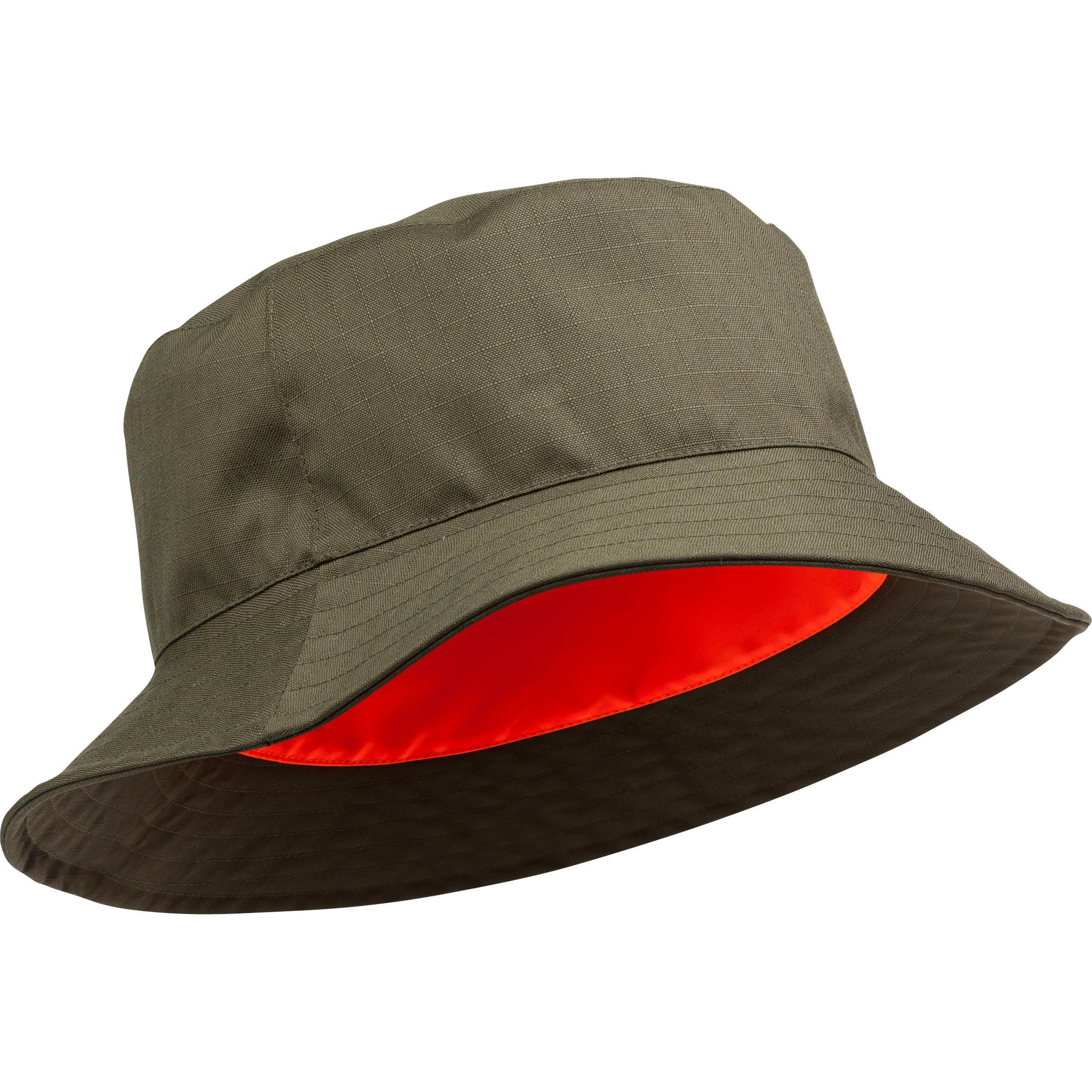 Solognac Omkeerbaar en waterdicht hoedje voor de jacht oranje groen