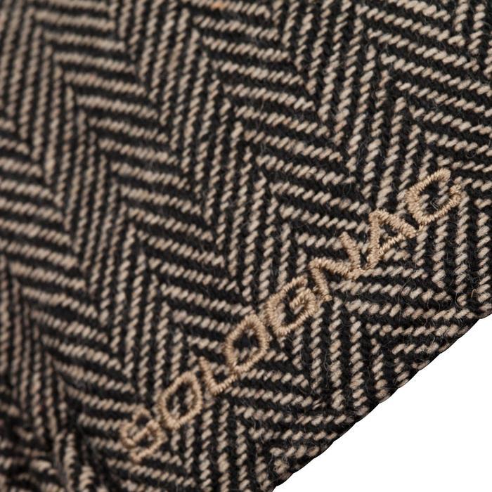 Gorra caza tweed plate beige