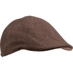 Flat tweed hunting cap - beige