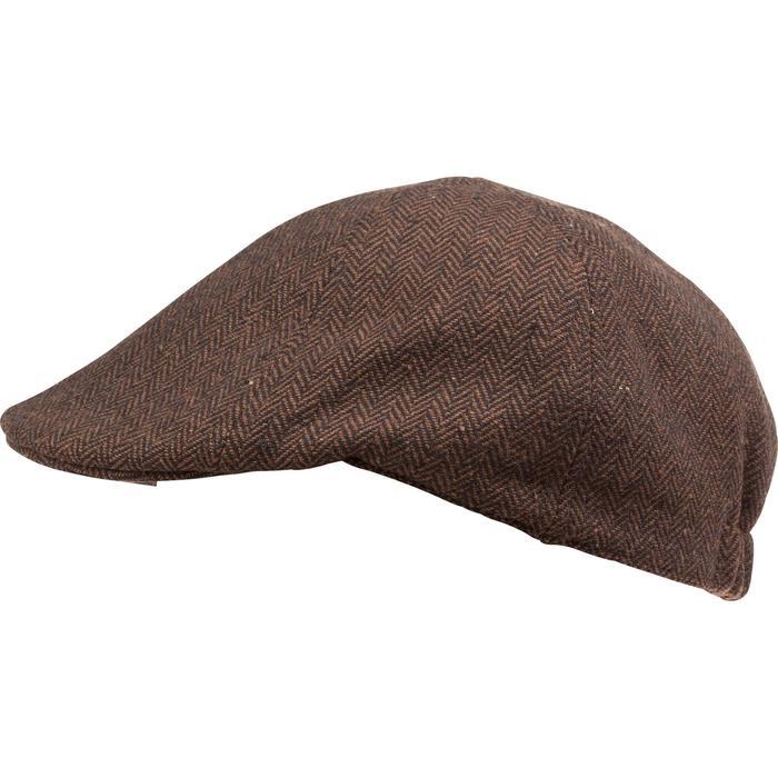 Jagd-Schirmmütze Tweed flach braun