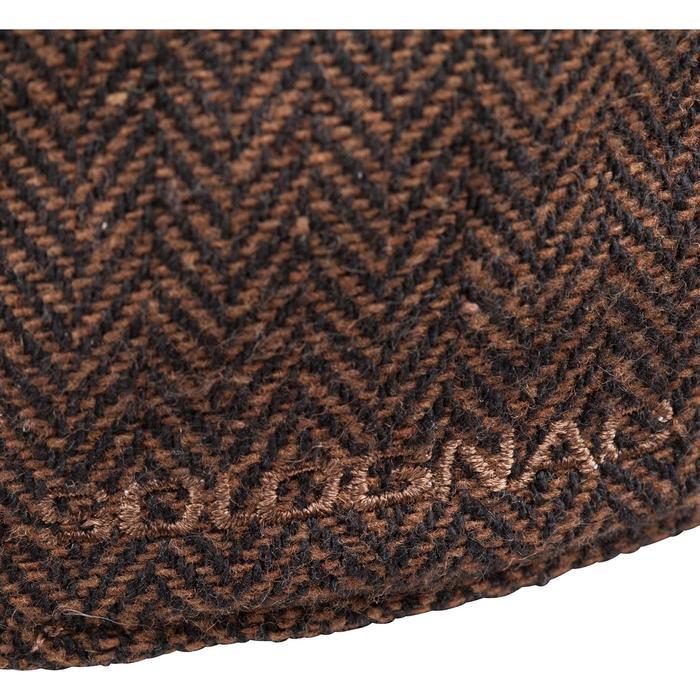 Platte tweed jagerspet bruin
