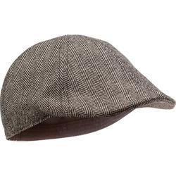 狩獵毛呢扁帽-米色