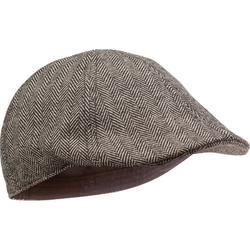 Casquette chasse tweed plate beige