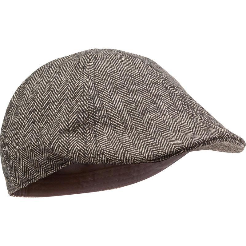 Şapka - Bej - Tweed Plate