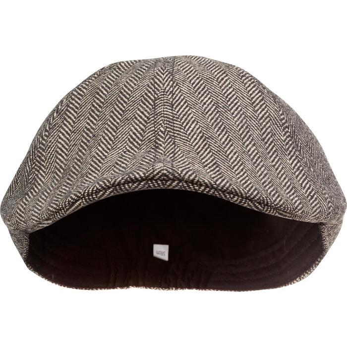 Jagd-Schirmmütze Tweed flach beige