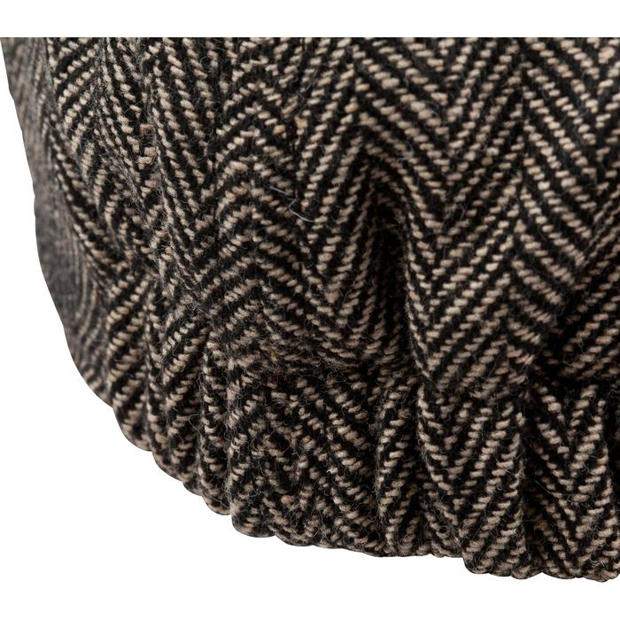 Platte tweed jagerspet beige
