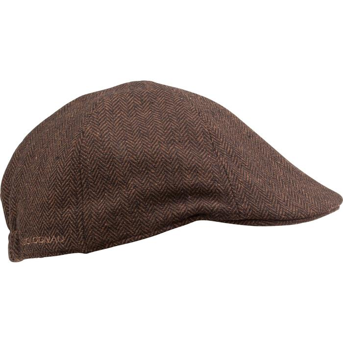 Casquette de chasse tweed plate - 982398
